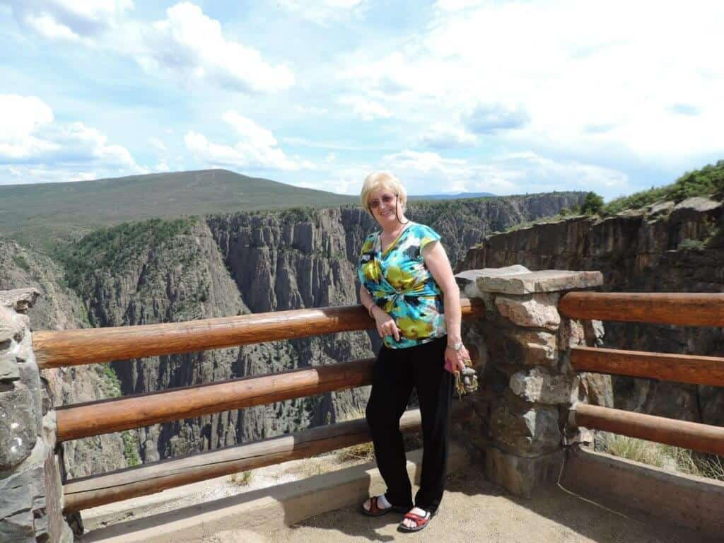 Inge at the Black Canyon of the Gunnison, Colorado